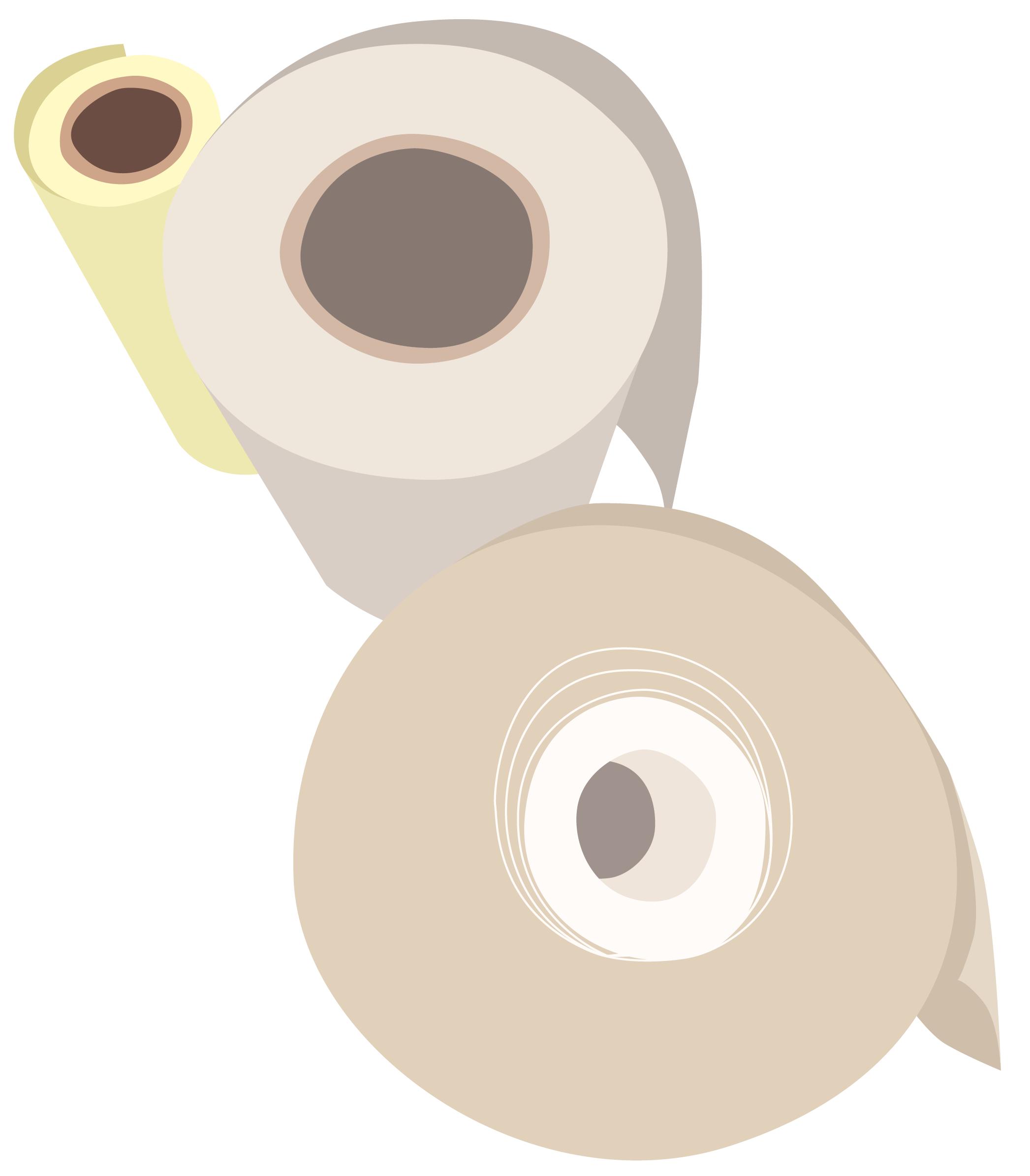 Illustration Papierrollen
